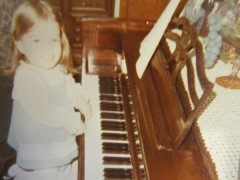 on grandpa's piano