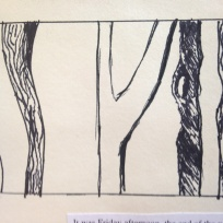 bark drawing 2000